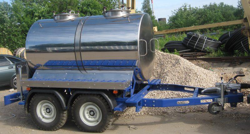 ПРИЦЕП ЦИСТЕРНА 2300 л. для молока воды