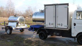 Прицеп цистерна для пищевых жидкостей на 700 литров