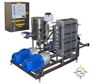 Станция для пастеризации и охлаждения  с роторными нагревателями